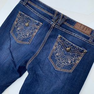 Cowgirl Up Jeans - Cowgirl Up Bootcut Jeans Embroidered Pockets 32